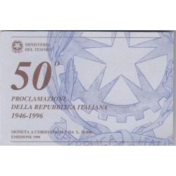 10000 LIRE 1996 , 50' PROCLAMAZIONE DELLA REPPUBLICA ITALIANA,