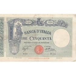 50 LIRE BARBETTI MATRICE 21.3.1933 FASCIO