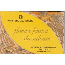 500 LIRE 1993 FLORA E FAUNA DA SALVARE, ARGENTO