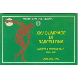 500 LIRE 1992 XXV OLIMPIADE DI BARCELLONA