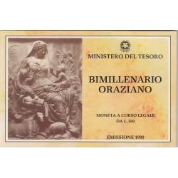 500 LIRE 1993 BIMILLENARIO ORAZIANO, ARGENTO