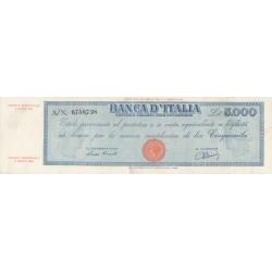 5000 LIRE TITOLO PROVVISORIO 8.4.1947 TESTINA