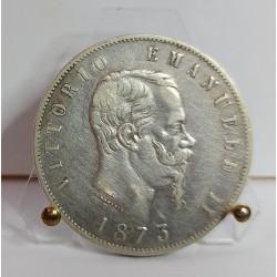 REGNO D'ITALIA VITTORIO EMANUELE II 5 LIRE 1873,ZECCA DI MILANO