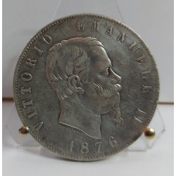 REGNO D'ITALIA VITTORIO EMANUELE II 5 LIRE 1876,ZECCA DI ROMA