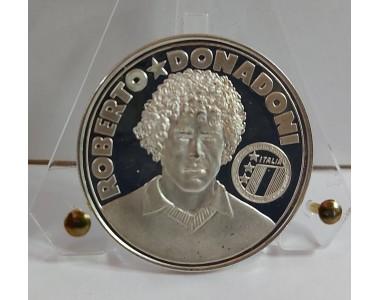 GLI AZZURRI DEL 1990 ROBERTO DONADONI, MEDAGLIA IN ARGENTO 925/1000