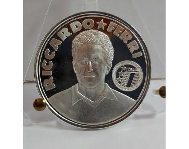 GLI AZZURRI DEL 1990 RICCARDO FERRI, MEDAGLIA IN ARGENTO 925/1000