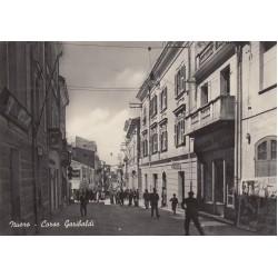 NUORO, CORSO GARIBALDI, CARTOLINA VIAGGIATA 1953