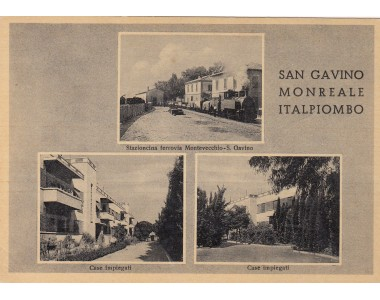 SAN GAVINO MONREALE ITALPIOMBO, STAZIONCINA FERROVIA MONTEVECCHIO, CASE IMPIEGATI