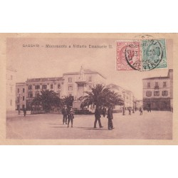 SASSARI 1920 , MONUMENTO A VITTORIO EMANUELE II ,
