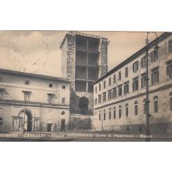 CAGLIARI PIAZZA INDIPENDENZA TORRE S. PANCRAZIO- MUSEO 1939