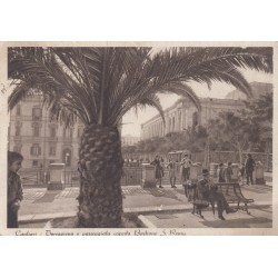 CAGLIARI TERRAPIENO E PASSEGGIATA COPERTA BASTIONE S. REMY 1939