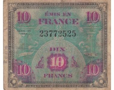 FRANCIA 10 FRANCHI 1944