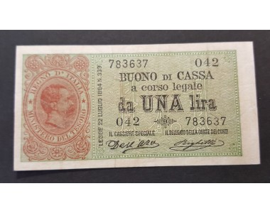 1 LIRA  UMBERTO I  2-8-1894  qSPL