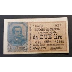 UMBERTO I  2 LIRE 22-2-1894 BB/SPL