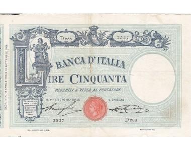 50 LIRE MATRICE DECRETO 18.4.1918  SPL