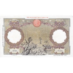 100 LIRE CAPRANESI REPUBBLICA SOCIALE 8.10.1943 SPL+