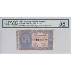 10 LIRE VITT. EM III con effigie di UMBERTO i 19-5-1923