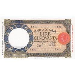 50 Lire Lupa Capitolina 28.8.1942 Fds