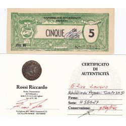 5 LIRE LAVORO REPUBBLICA DEI RAGAZZI 3-11-1950 TRIESTE  qFDS/FDS