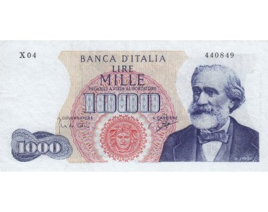 1000 Lire Verdi I° Tipo 05-07-1963  SERIE  SOSTITUTIVA X 04