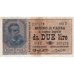 2 lire Umberto I  22.2.1894