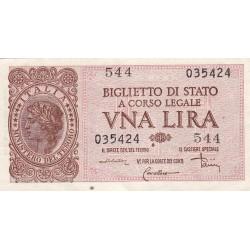 1 LIRA LUOGOTENENZA 23 NOVEMBRE  1944 qFDS