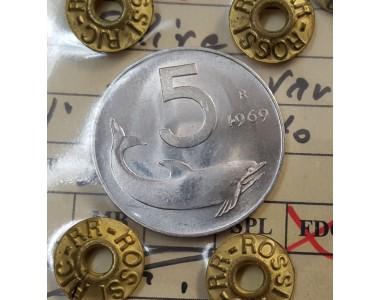 5 LIRE 1969 VARIANTE 1 CAPOVOLTO FDC