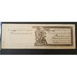 REGIE FINANZE 50 LIRE PER LA SARDEGNA 1780  FDS