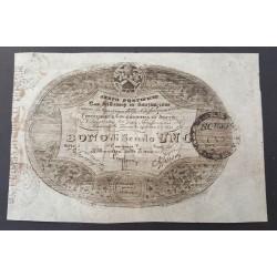 1 SCUDO STATO PONTIFICIO 24-9-1849  BONI DEL TESORO IN SOSTITUZIONE BB/SPL