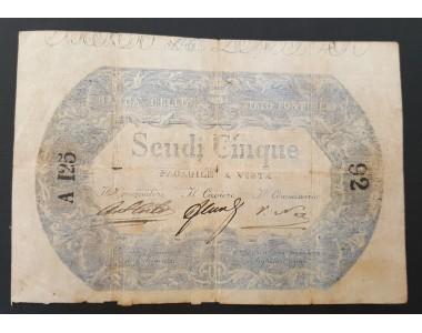5 SCUDI BANCA DELLO STATO PONTIFICIO 1854   BB