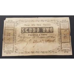 1 SCUDO BANCA DELLO STATO PONTIFICIO 1854 R5  MB/BB