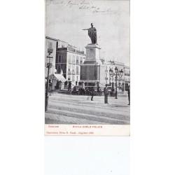 CAGLIARI STATUA CARLO FELICE  VIAGGIATA 1906
