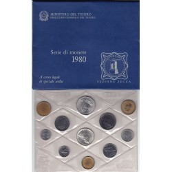 REPUBBLICA SERIE DIVISIONALE 1980 FDC