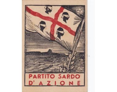 PARTITO SARDO d'AZIONE tessera 1948