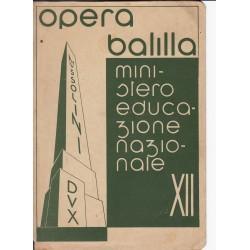 PAGELLA SCOLASTICA OPERA BALILLA Anno 1933-34