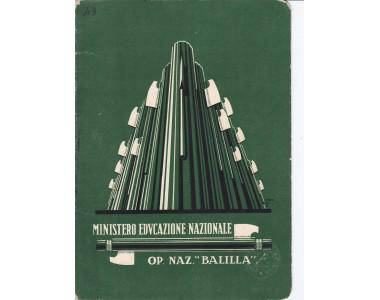 PAGELLA SCOLASTICA OPERA BALILLA Anno 1931-32