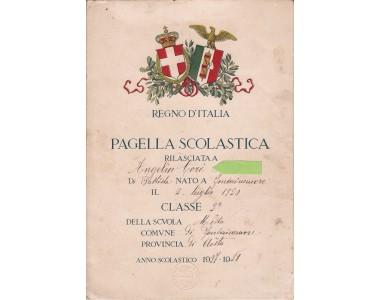 PAGELLA SCOLASTICA REGNO D'ITALIA Anno 1927-28