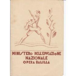 PAGELLA SCOLASTICA OPERA BALILLA  Anno 1932-33