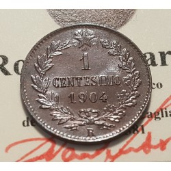 1 CENTESIMO 1904  FDC