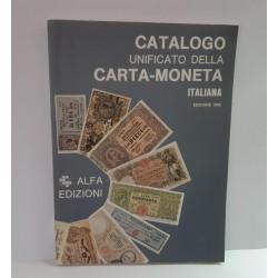 CATALOGO UNIFICATO DELLA CARTA MONETA ITALIANA 1992 NUOVO
