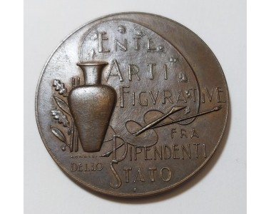 Medaglia in bronzo  ENTE ARTI FIGURATIVE FRA DIPENDENTI DELLO STATO  1958