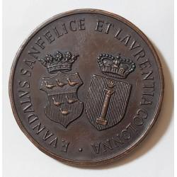 MEDAGLIA in bronzo  VANDALO SANFELICE DI BAGNOLI E DONNA LAURENTIA COLONNA   8 APRILE 1972