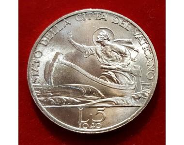 PIO XII 5 LIRE 1940   FDC