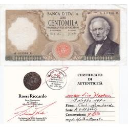 100000 LIRE MANZONI 19 LUGLIO 1970 qBB