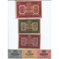 CASSA VENETA DEI PRESTITI SERIE DA 1 2 20 LIRE e 5 10 50 CENTESIMI 1918
