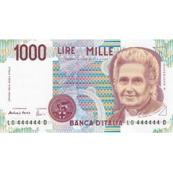 1.000 LIRE MONTESSORI 1998 NUMERI UGUALI FDS