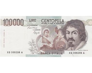 100.000 CARAVAGGIO I TIPO 1990 SERIE SOSTITUTIVA XD  A  FDS