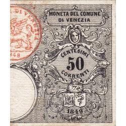 MONETA DEL COMUNE DI VENEZIA 50 Centesimi 1849