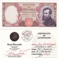 10000 LIRE MICHELANGELO  15 febbraio 1973