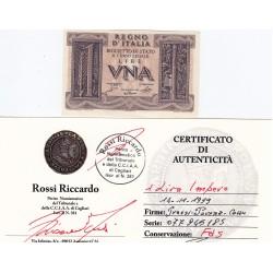 1 LIRA IMPERO 14.11.1939